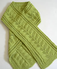 banglehouse scarf 1 thumb Link Love: Free Scarf Knitting Patterns Part 1