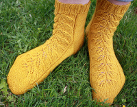 Gold Leaf Socks pattern